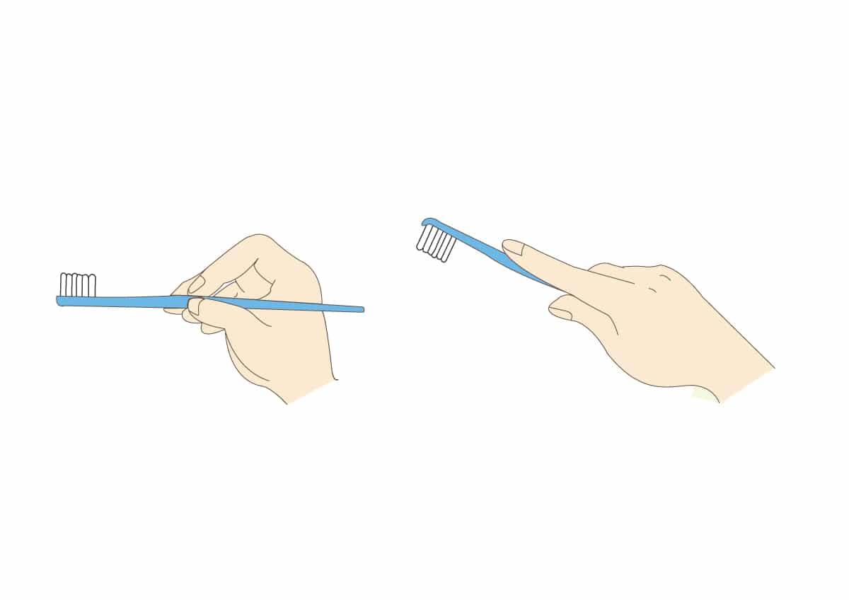 御笠川デンタルクリニック ヒカリの歯ブラシのみがき方